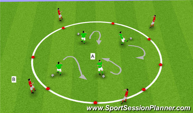 Football/Soccer Session Plan Drill (Colour): Technical Activity -Ball Control receiving