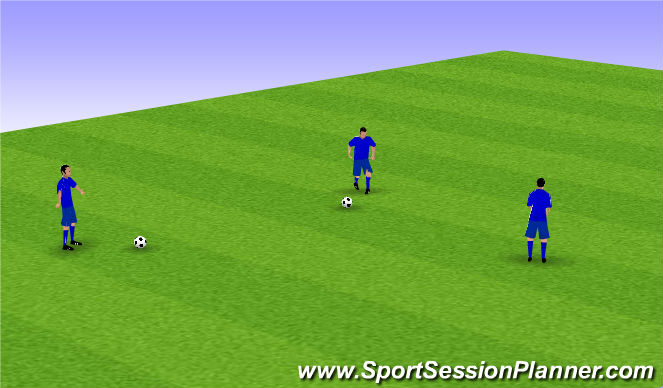 Football/Soccer Session Plan Drill (Colour): Warm Up- Simon Says