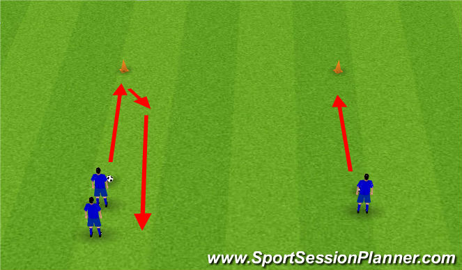 Football/Soccer Session Plan Drill (Colour): Dribbling Activity