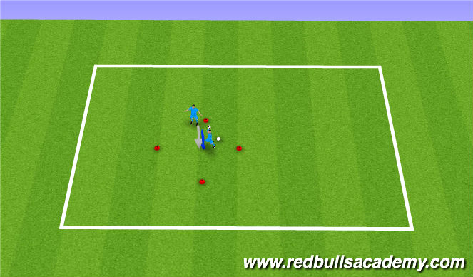 Football/Soccer Session Plan Drill (Colour): Diamond Drill 2