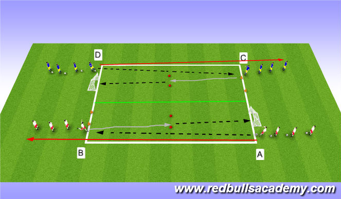 Football/Soccer Session Plan Drill (Colour): Activity 1 / individual
