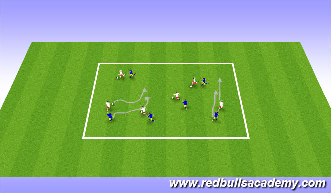 Football/Soccer Session Plan Drill (Colour): main theme/ Team opossed