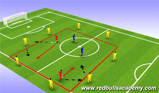 Football/Soccer Session Plan Drill (Colour): Warm-Up (NYRB TRAVEL)