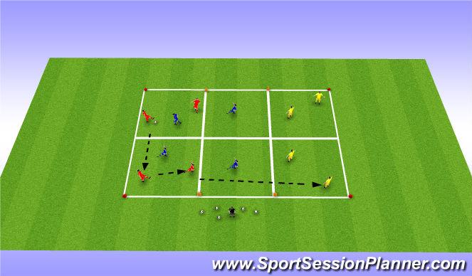 Football/Soccer Session Plan Drill (Colour): 30 min 4v2 or 5v2 possession game