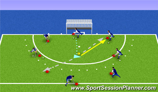 Hockey Session Plan Drill (Colour): rondo
