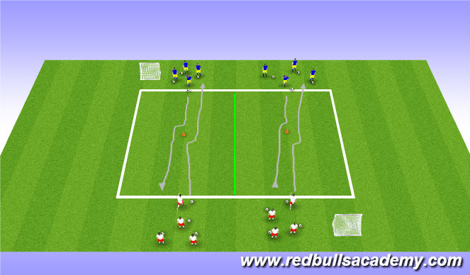 Football/Soccer Session Plan Drill (Colour): Activity 1/ Individual