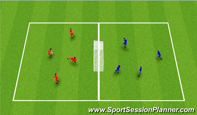 Football/Soccer Session Plan Drill (Colour): Skallatennis.