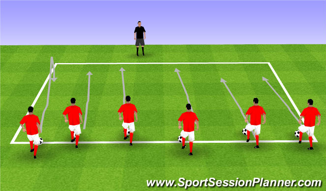 Football/Soccer Session Plan Drill (Colour): Dribbling Main 1
