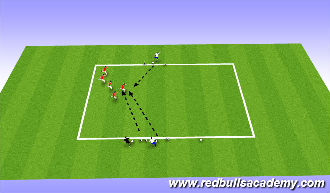 Football/Soccer Session Plan Drill (Colour): Warm Up (Cannon Ball Run)