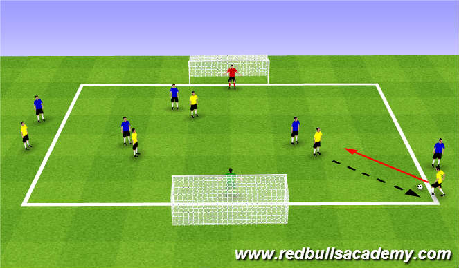 Football/Soccer Session Plan Drill (Colour): Main Theme (1738)