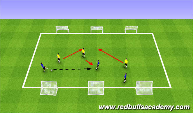 Football/Soccer Session Plan Drill (Colour): Main Theme (1736)