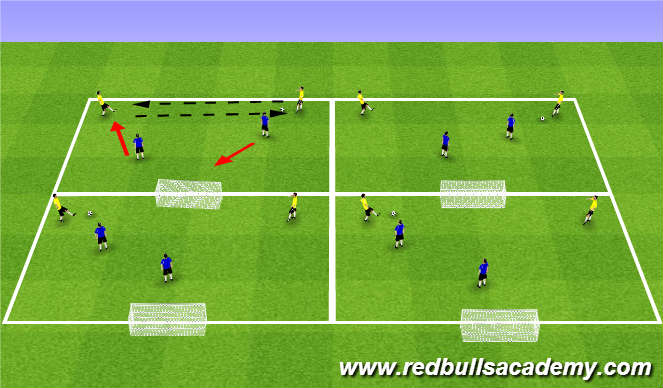 Football/Soccer Session Plan Drill (Colour): Warm Up (1722)