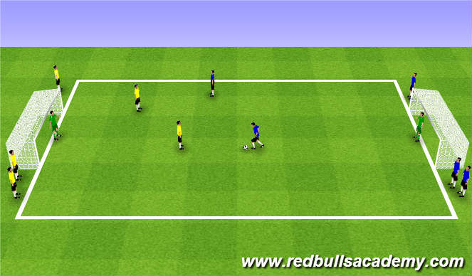 Football/Soccer Session Plan Drill (Colour): Main Theme (1725)
