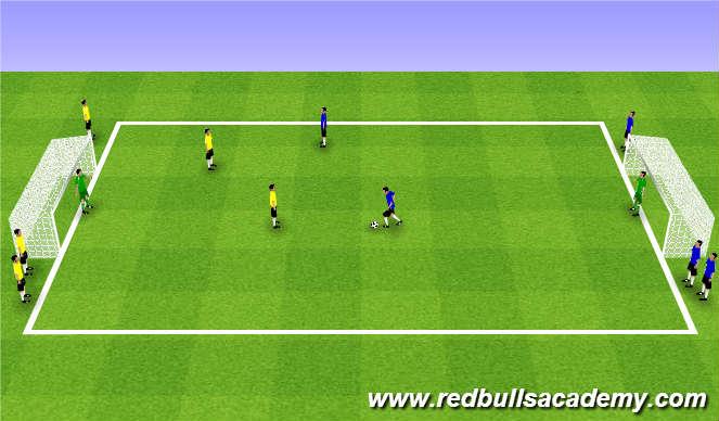 Football/Soccer Session Plan Drill (Colour): Main Theme (1725)