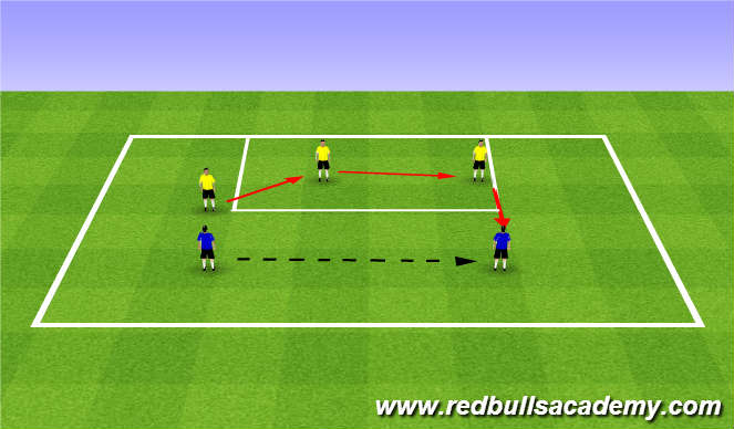 Football/Soccer Session Plan Drill (Colour): Warm Up (1730)