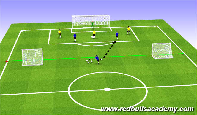 Football/Soccer Session Plan Drill (Colour): Main Theme (1731)