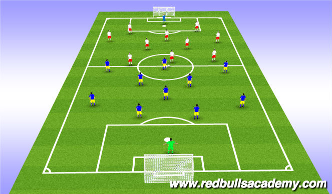 Football/Soccer Session Plan Drill (Colour): Match (Thursday)
