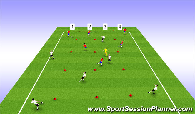 Football/Soccer Session Plan Drill (Colour): Tech Practice