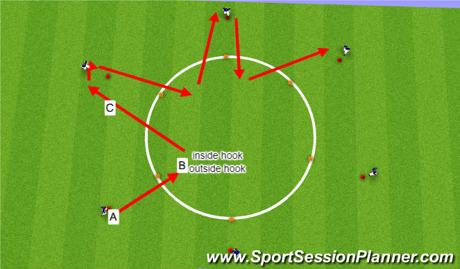 Football/Soccer Session Plan Drill (Colour): star dribble