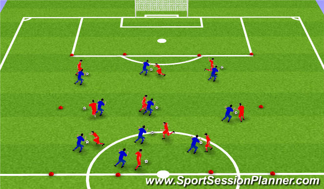 Football/Soccer Session Plan Drill (Colour): 1. Tækniþjálfun