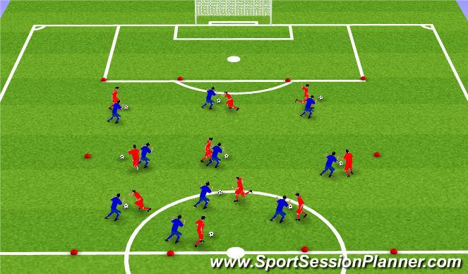 Football/Soccer Session Plan Drill (Colour): 1. Tækniþjálfun