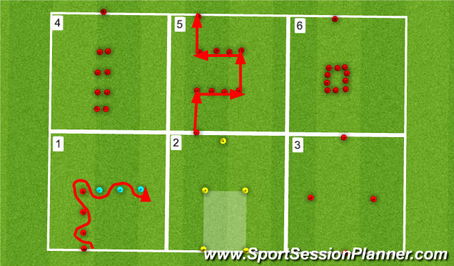 Football/Soccer Session Plan Drill (Colour): SAQs 1
