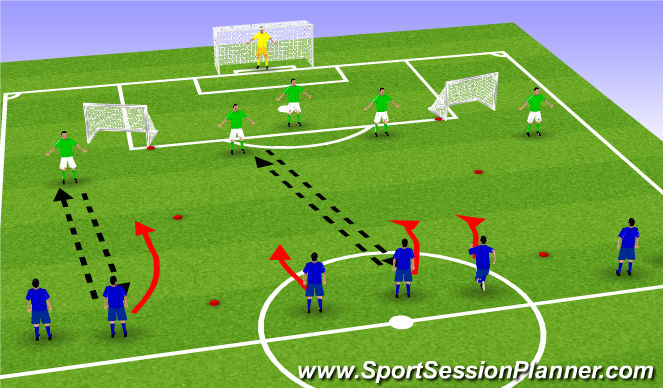 Football/Soccer Session Plan Drill (Colour): Layer 1