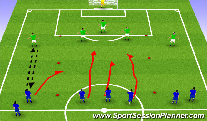 Football/Soccer Session Plan Drill (Colour): Layer 2