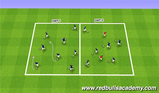 Football/Soccer Session Plan Drill (Colour): Warm-UP/SAQ