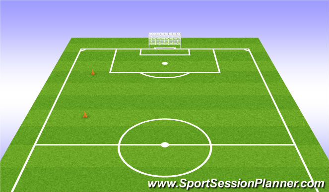 Football/Soccer Session Plan Drill (Colour): GU15: 23-24 Yard Shuttles