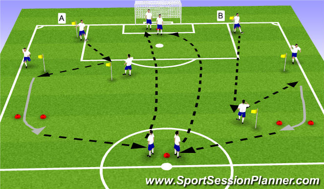 Football/Soccer Session Plan Drill (Colour): Basico - inside/out