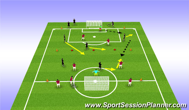 Football/Soccer Session Plan Drill (Colour): Hearts Function