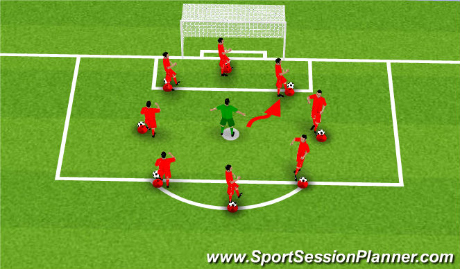 Football/Soccer Session Plan Drill (Colour): Shielding Circle