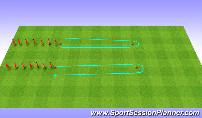 Football/Soccer Session Plan Drill (Colour): Dynamic Stretches - Warm Up