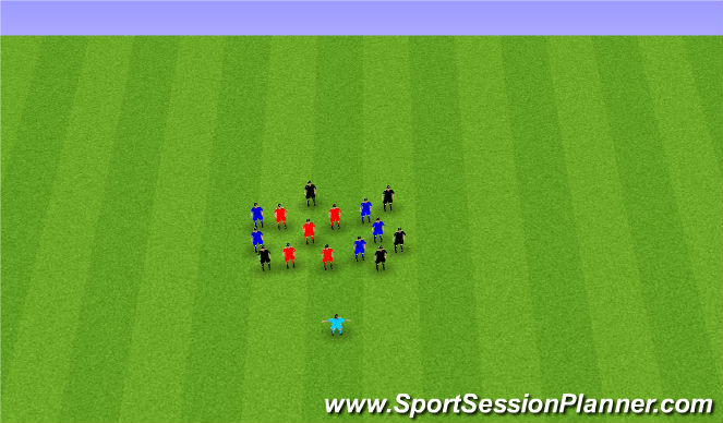 Football/Soccer Session Plan Drill (Colour): Cool Down and Talk