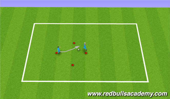 Football/Soccer Session Plan Drill (Colour): Diamond Drill 1