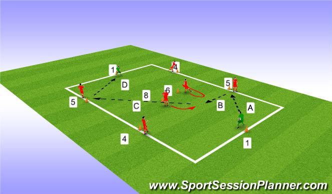 Football/Soccer Session Plan Drill (Colour): Play out of the back