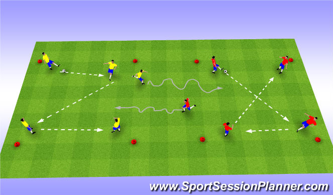 Football/Soccer Session Plan Drill (Colour): Skill Intro - Fun Game