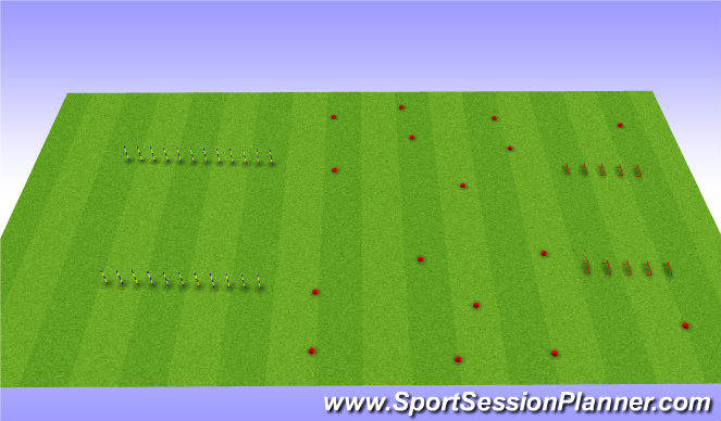 Football/Soccer Session Plan Drill (Colour): Conditioning Circut