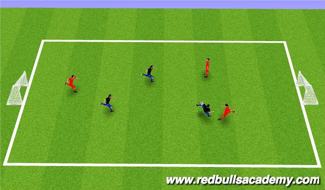 Football/Soccer Session Plan Drill (Colour): 3 v 3_1v1