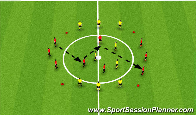 Football/Soccer Session Plan Drill (Colour): Transition and possession