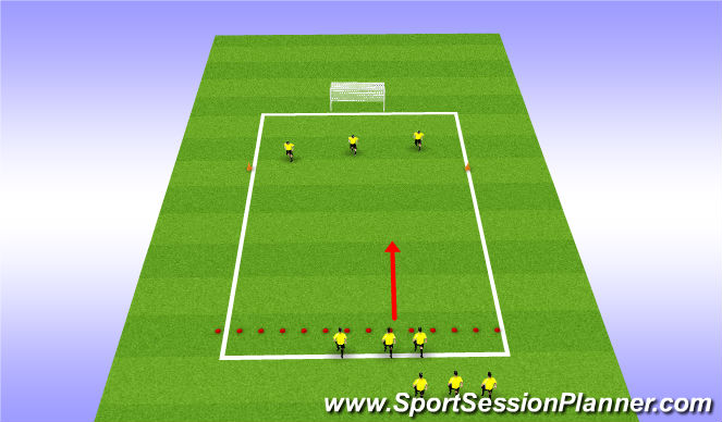 Football/Soccer Session Plan Drill (Colour): 3v3 end product