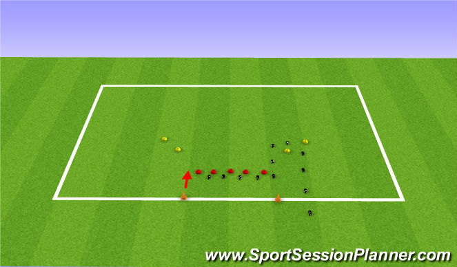 Football/Soccer Session Plan Drill (Colour): Warmup 1