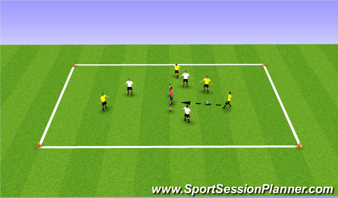 Football/Soccer Session Plan Drill (Colour): Drill 3a