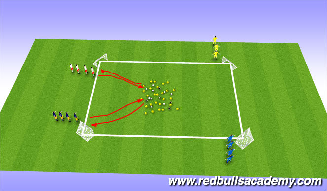 Football/Soccer Session Plan Drill (Colour): Krabby Patty