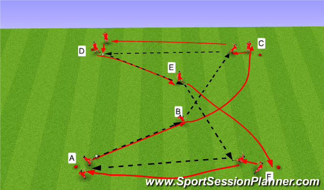 Football/Soccer Session Plan Drill (Colour): Upphitun - Tækniþjálfun1