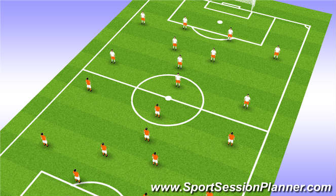 Football/Soccer Session Plan Drill (Colour): Game v U16