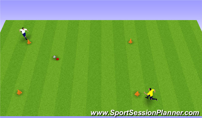 Football/Soccer Session Plan Drill (Colour): Moving to a ball to keep possesion