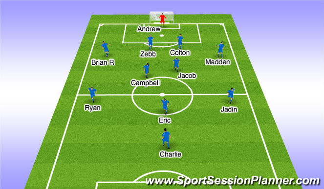Football/Soccer Session Plan Drill (Colour): Starting Lineup
