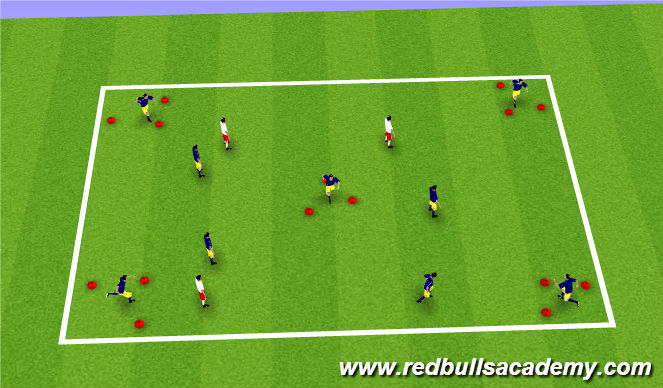 Football/Soccer Session Plan Drill (Colour): Activator-Warm-up